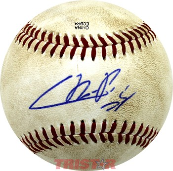 Cristian Pache Autographed Official Southern League Baseball