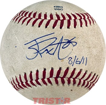 James Paxton Autographed Official Southern League Baseball Inscribed 8/6/11