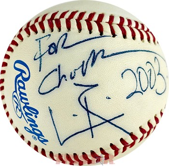 Leon Redbone Autographed Official Major League Baseball Inscribed For Chuck, 2003