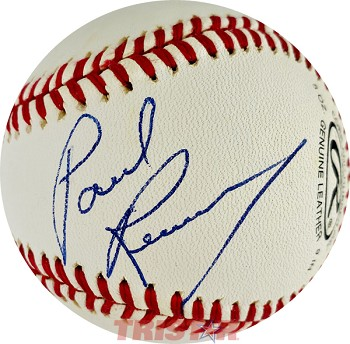 Paul Revere Autographed Rawlings Official League Baseball