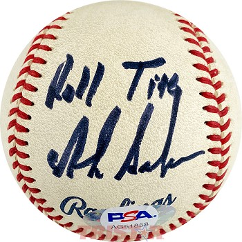 Nick Saban Autographed Minor League Baseball Inscribed Roll Tide