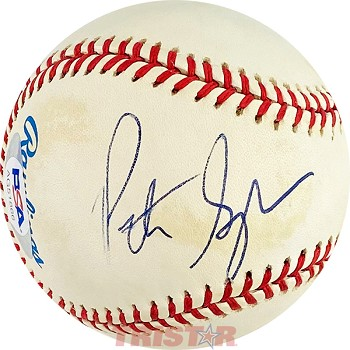 Pete Sampras Autographed Official American League Baseball