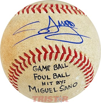Miguel Sano Autographed Official Southern League Baseball Inscribed Game Ball; Foul Ball