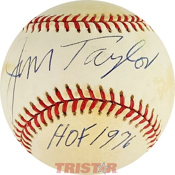 Jim Taylor Autographed Official National League Baseball Inscribed HOF 1976