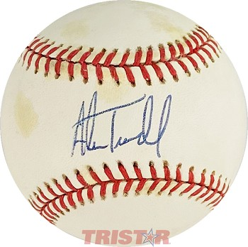 Alan Trammell Autographed Official American League Baseball