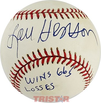 Lou Henson Autographed Rawlings Official League Baseball