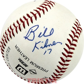 Billy Kilmer Autographed Baseball Inscribed 17