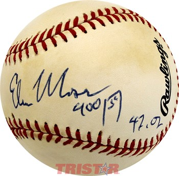 Edwin Moses Autographed Official National League Baseball Inscribed 400 Hurdle 47.02