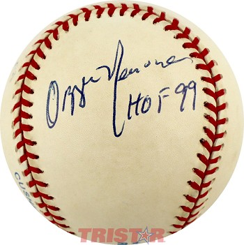 Ozzie Newsome Autographed Official American League Baseball Inscribed HOF 99