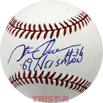 Steve Owens Autographed Official ML Baseball Inscribed 69 Heisman