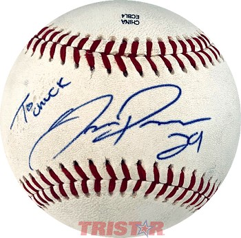 Joc Pederson Autographed Official Southern League Baseball Inscribed To Chuck 29