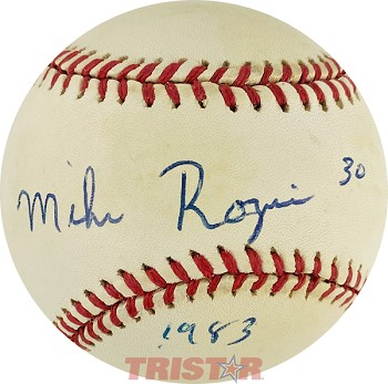 Mike Rozier Autographed Official American League Baseball Inscribed 1983
