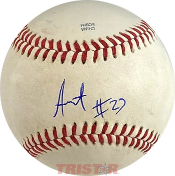 Sixto Sanchez Autographed Official Southern League Baseball Inscribed 27