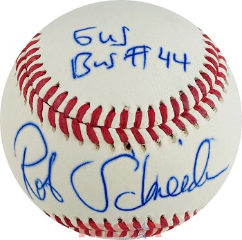 Rob Schneider Autographed Rawlings Official League Baseball Inscribed Gus Bus 44