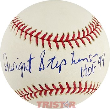 Dwight Stephenson Autographed Official Major League Baseball Inscribed HOF 98