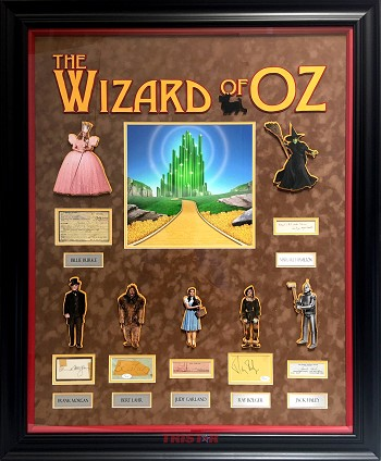 Wizard of OZ Cast Autographed Custom Framed Cut Signatures - Judy Garland, Billie Burke & More