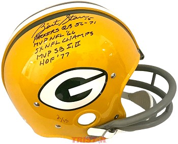 Bart Starr Autographed Green Bay Packers Full Size TK Helmet Limited Edition of 15