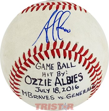 Ozzie Albies Autographed Official Southern League Baseball