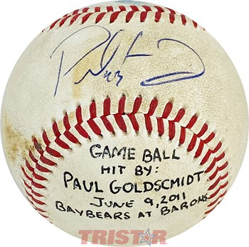 Paul Goldschmidt Autographed Official Southern League Baseball Inscribed 43