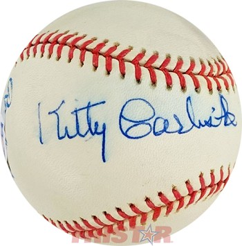 Kitty Carlisle Hart Autographed Official American League Baseball