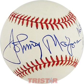 Johnny Majors Autographed Baseball Inscribed National Champion 1976 Pitt Panthers