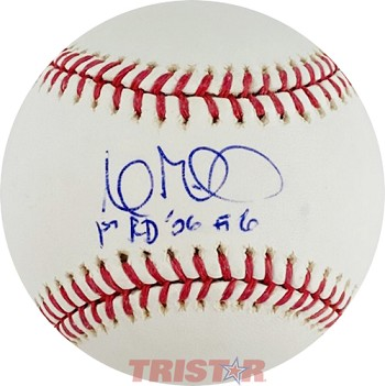 Andrew Miller Autographed Official Major League Baseball Inscribed 1st Rd '06 #6
