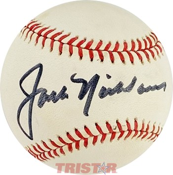 Jack Nicklaus Autographed Official National League Baseball