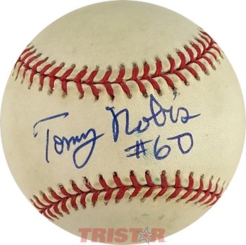 Tommy Nobis Autographed Official American League Baseball Inscribed #60