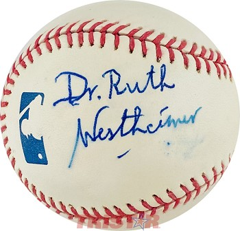 Dr. Ruth Westheimer Autographed Official Major League Baseball
