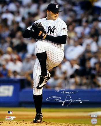 Roger Clemens Autographed New York Yankees 16x20 Photo Inscribed Rocket