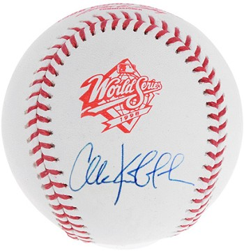 Chuck Knoblauch Autographed Official 1998 World Series Baseball
