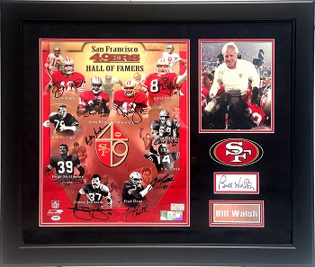 SF 49ers Hall of Famers Autographed 16x20 Photo - Walsh, Montana, Young & More