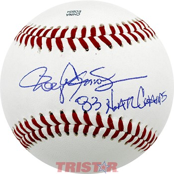 Roger Clemens Autographed Official NCAA Baseball Inscribed 83 Natl Champs!