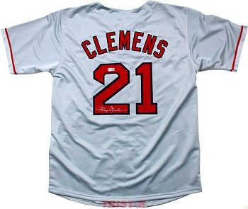 Roger Clemens Autographed Boston Red Sox Custom Jersey