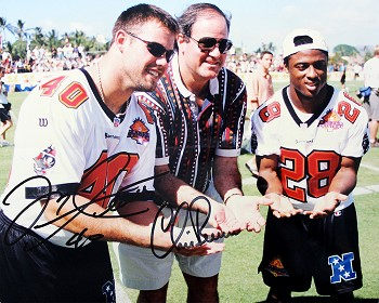 Mike Alstott & Chris Berman Autographed Tampa Bay Buccaneers 8x10 Photo