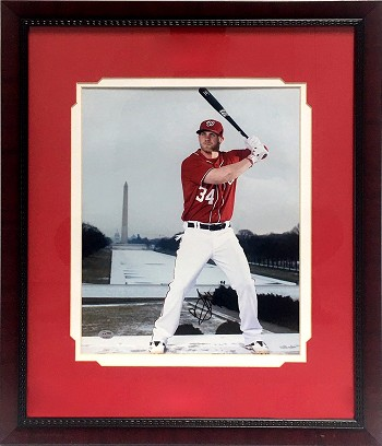 Bryce Harper Autographed Washington Nationals 11x14 Photo Framed