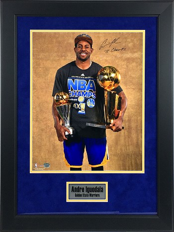 Andre Iguodala Autographed Golden State Warriors 16x20 Photo Framed