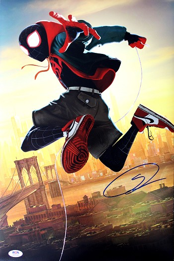 Shameik Moore Autographed Spider-Man: Into The Spider-Verse 11x14 Photo