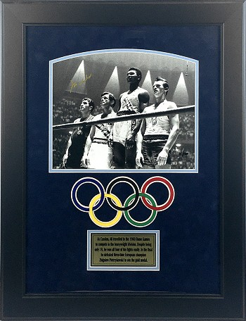 Muhammad Ali Autographed 1960 Olympics 11x14 Photo Framed
