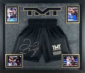 Floyd Mayweather Autographed Boxing Trunks Framed