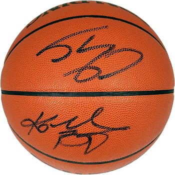 Kobe Bryant & Shaquille O'Neal Autographed Spalding Official NBA Basketball