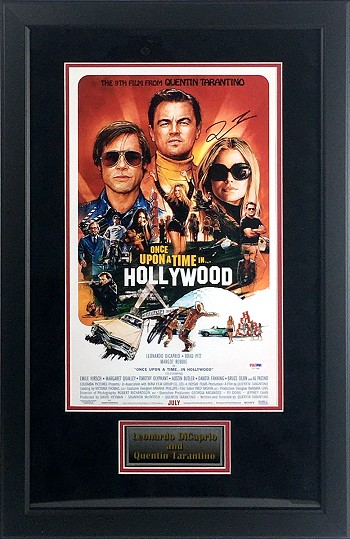 Leonardo DiCaprio & Quentin Tarantino Autographed 'Once Upon A Time In Hollywood' Mini Movie Poster