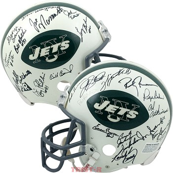 1969 New York Jets Team Autographed Full Size Helmet