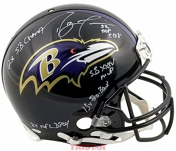 Ray Lewis Autographed Baltimore Ravens Authentic Helmet - HOF, 2x SB Champ & More
