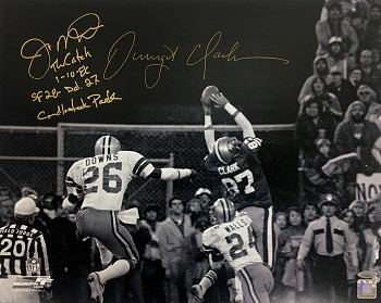 Joe Montana & Dwight Clark Autographed San Francisco 49ers 16x20 Photo Inscribed 'The Catch'