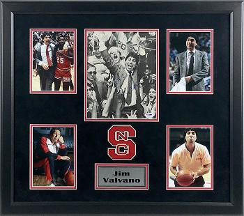 Jim Valvano Autographed North Carolina 1983 National Champs 8x10 Photo Framed
