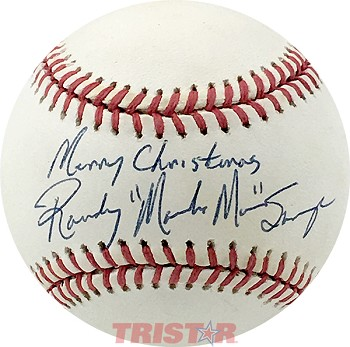 Randy 'Macho Man' Savage Autographed Official AL Baseball Inscribed Merry Christmas