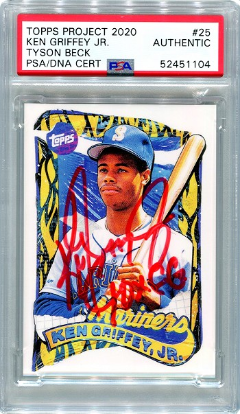 Ken Griffey Jr. Autographed Topps Project 2020 Card #25 Inscribed 10x GG - Red 1/1