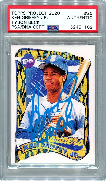 Ken Griffey Jr. Autographed Topps Project 2020 Card #25 Inscribed 10x GG - Blue 1/1