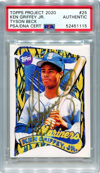 Ken Griffey Jr. Autographed Topps Project 2020 Card #25 Inscribed 24 - Gold 1/1